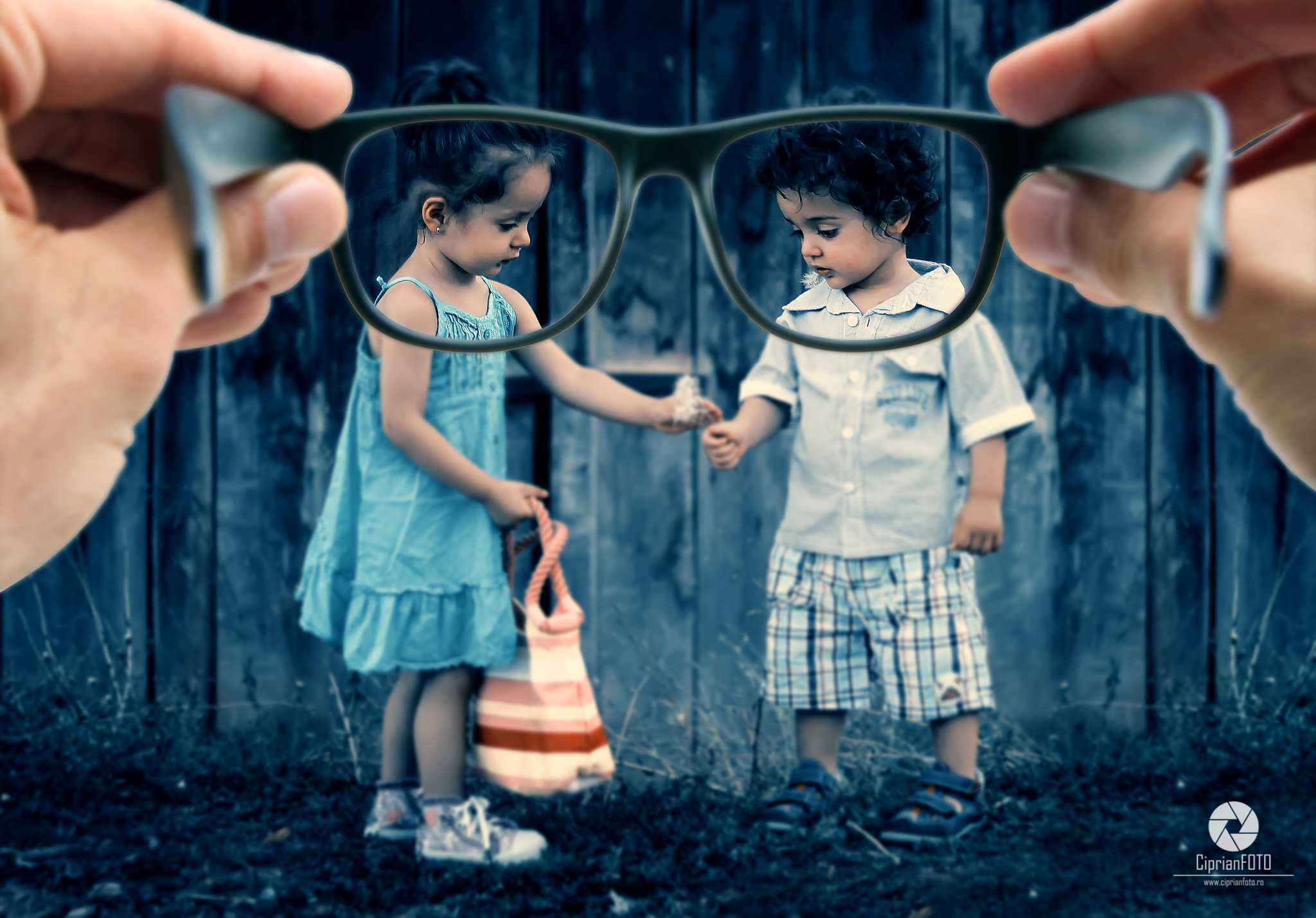Childhood Seen Through Glasses, Photoshop Manipulation Tutorial, CiprianFOTO