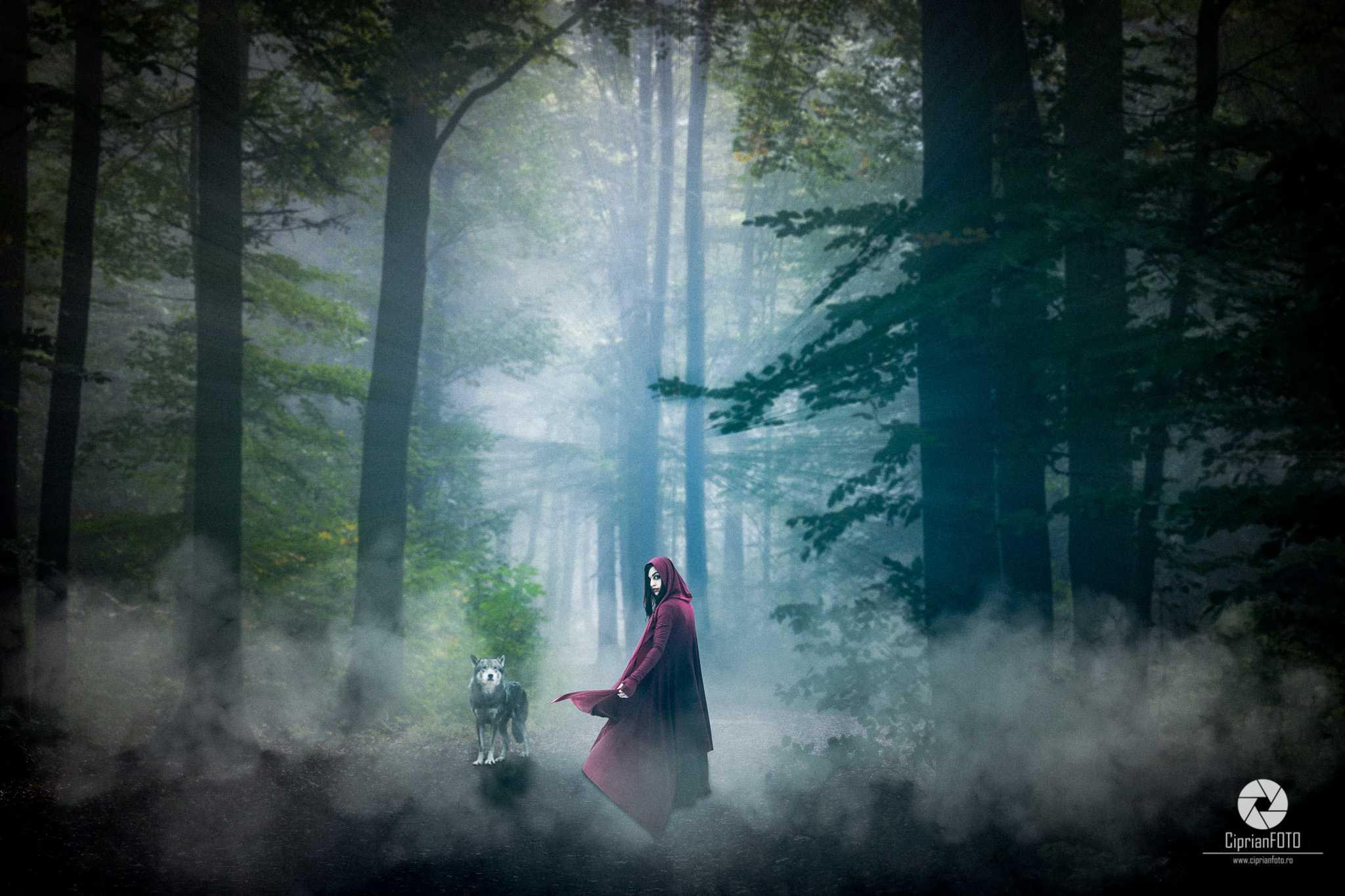Lady In Red, Photoshop Manipulation Tutorial, CiprianFOTO