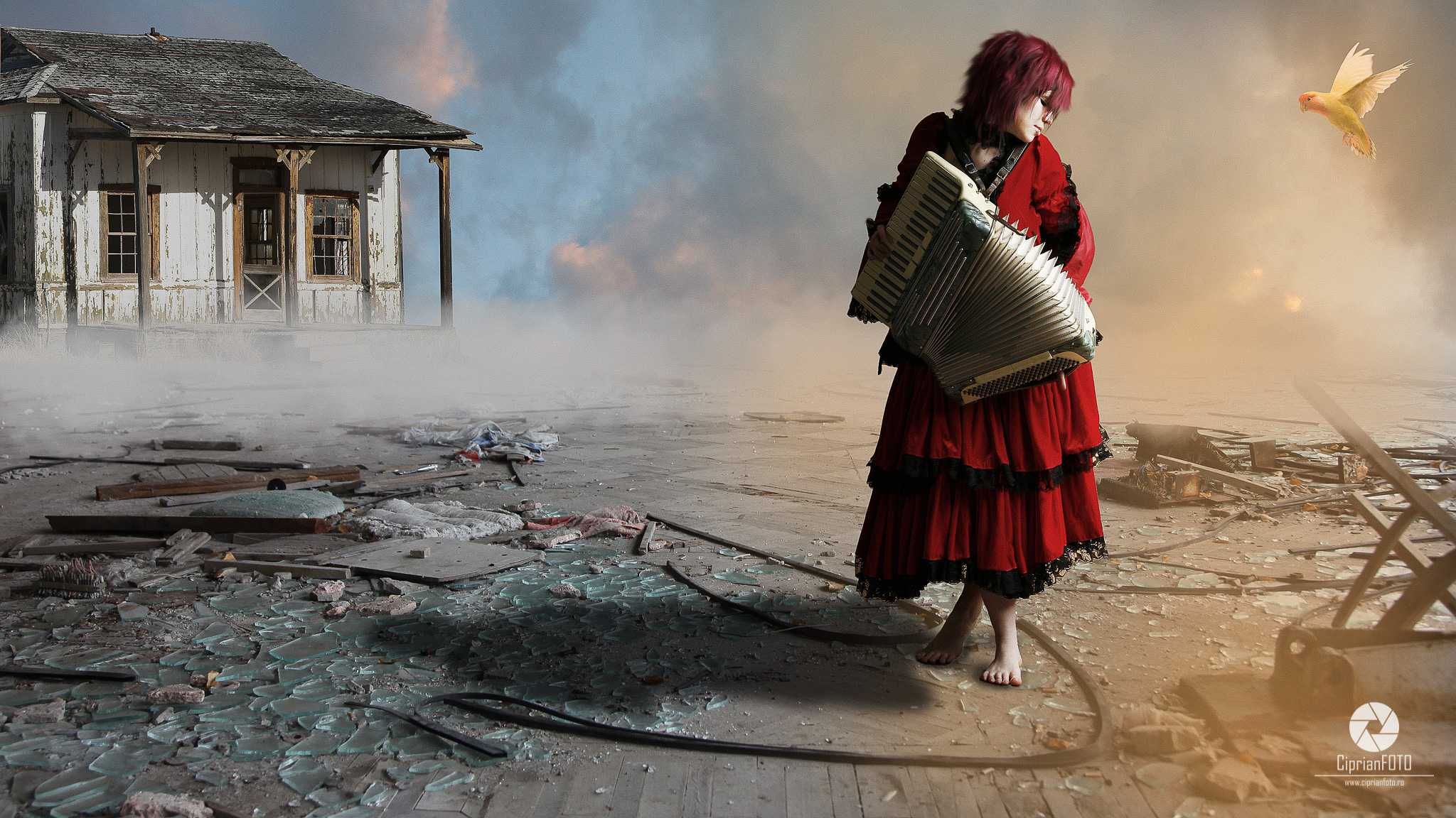 The_Girl_Playing_The_Accordion_Photoshop_Manipulation_Tutorial_CiprianFOTO