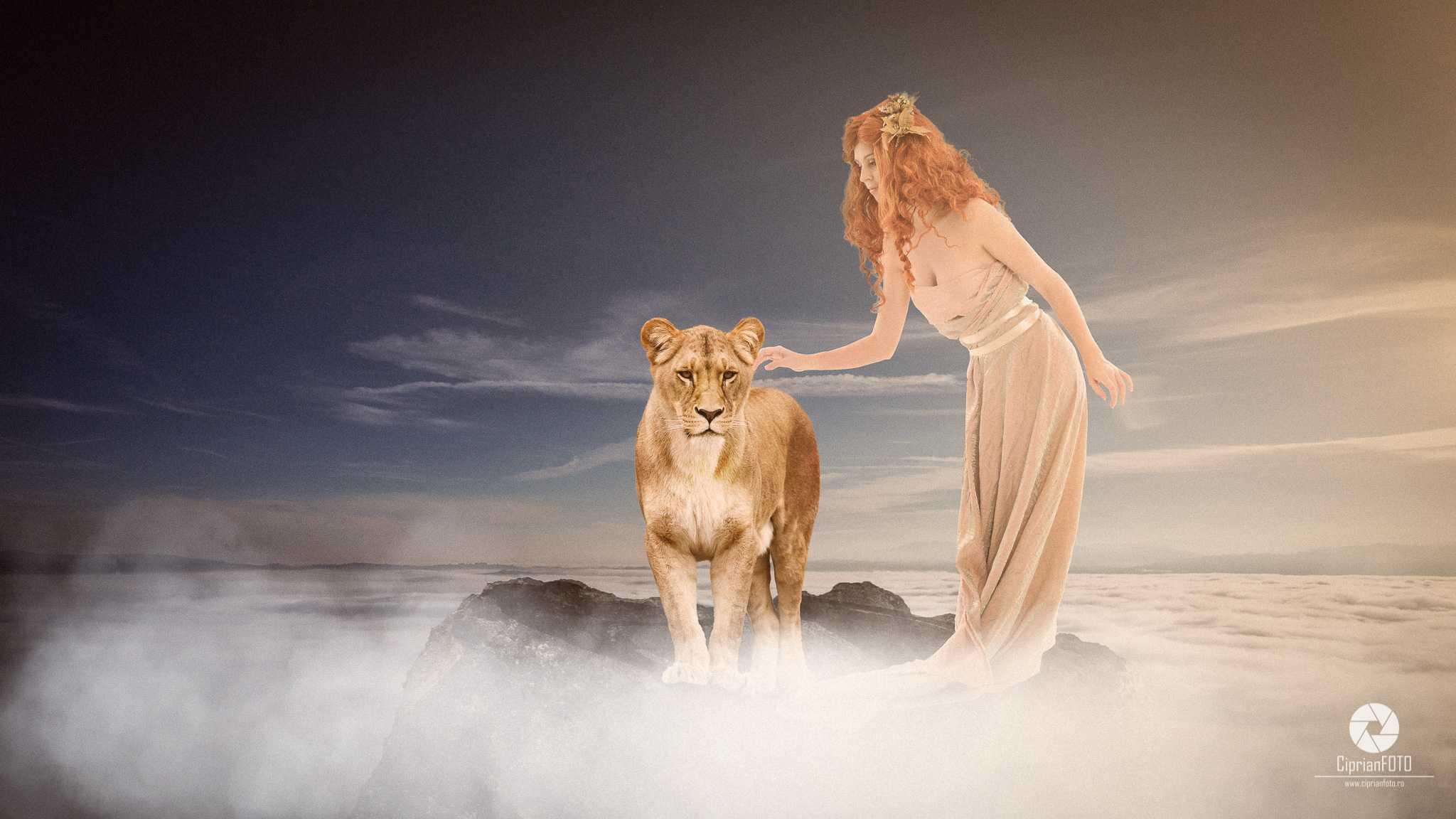 Girl And Lion, Photoshop Manipulation Tutorial, CiprianFOTO