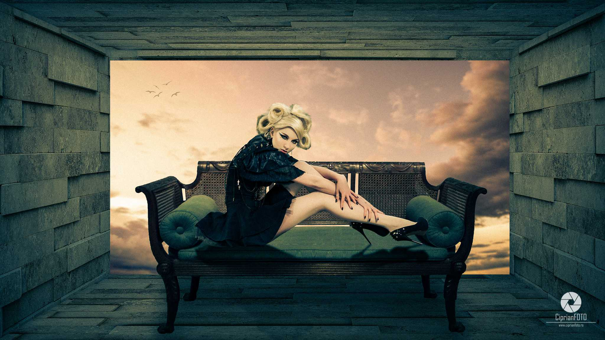 Girl On Sofa, Photoshop Manipulation Tutorial, CiprianFOTO