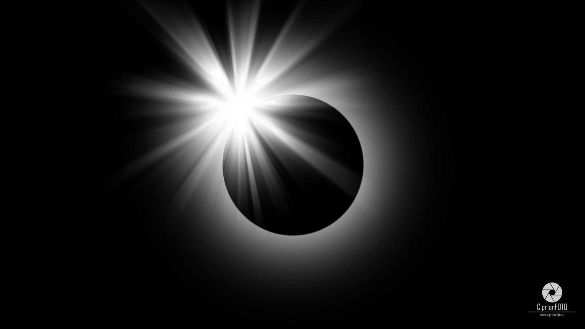 Solar Eclipse 2017, Photoshop Manipulation Tutorial, CiprianFOTO