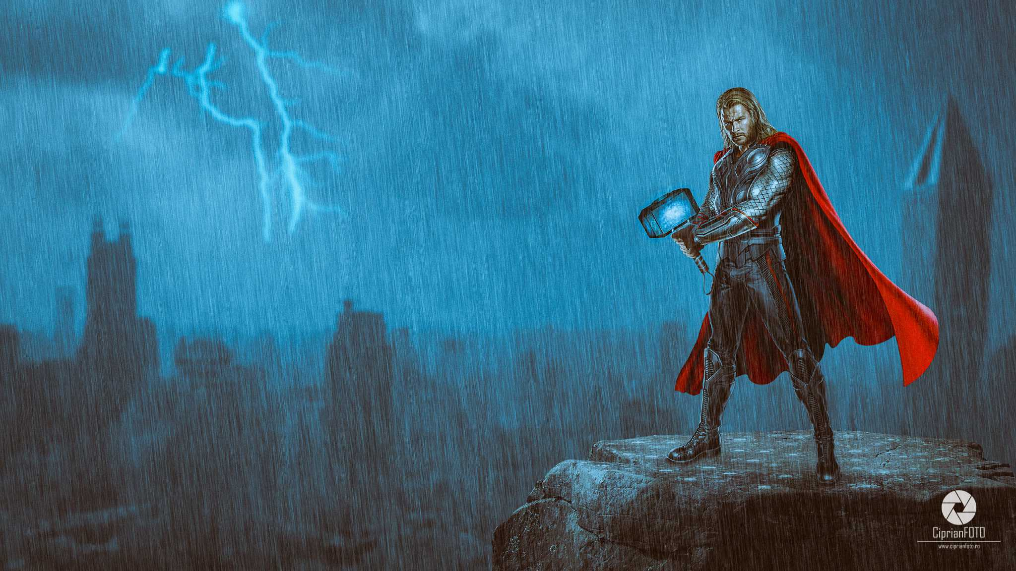 Thor, Photoshop Manipulation Tutorial, CiprianFOTO