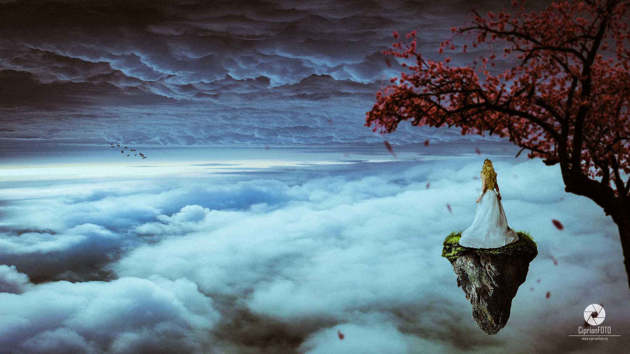 Above The Clouds, Photoshop Manipulation Tutorial, CiprianFOTO