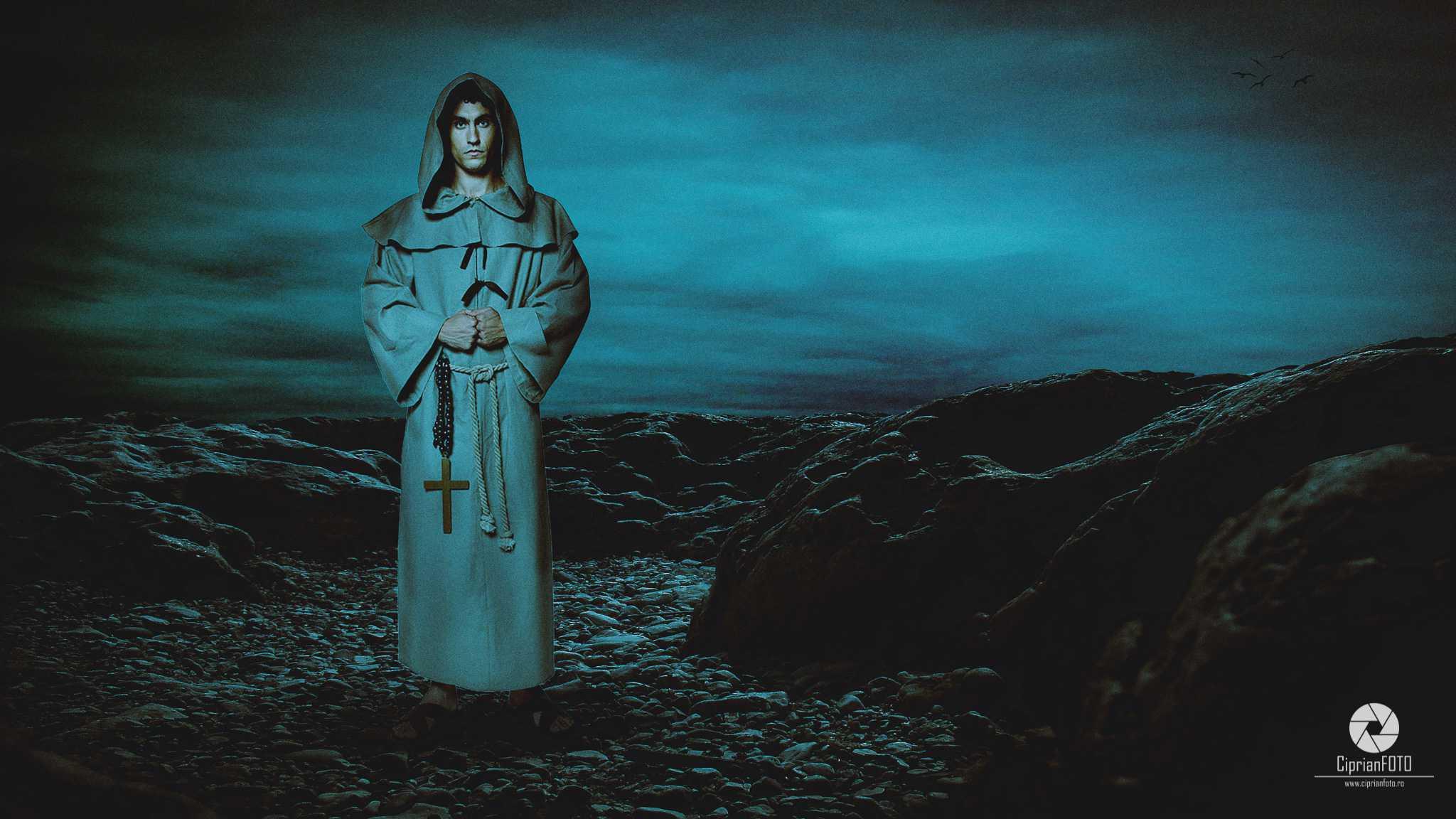The Monk, Photoshop Manipulation Tutorial, CiprianFOTO