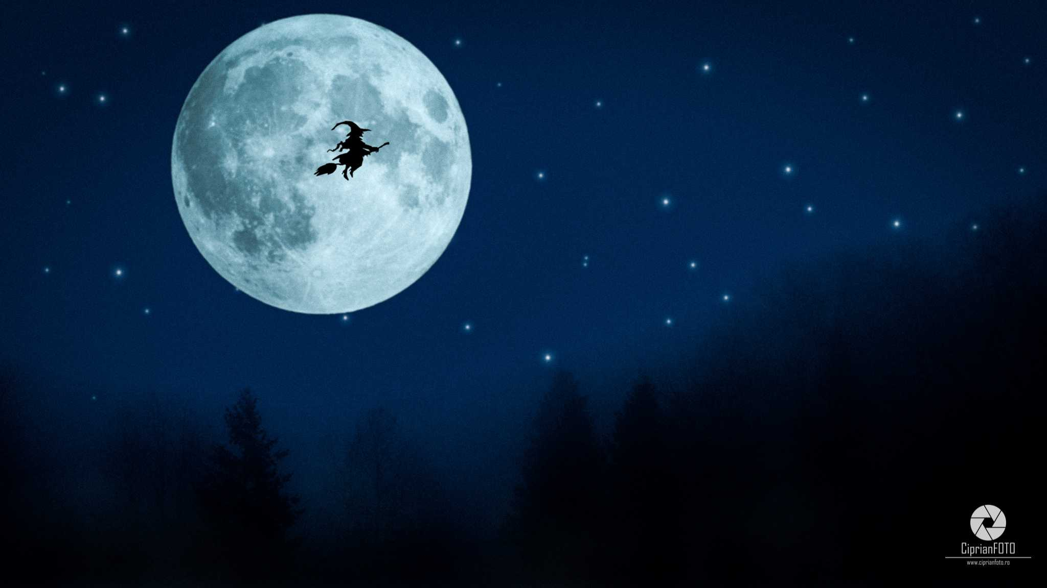 Flying Witch, Photoshop Manipulation Tutorial, CiprianFOTO