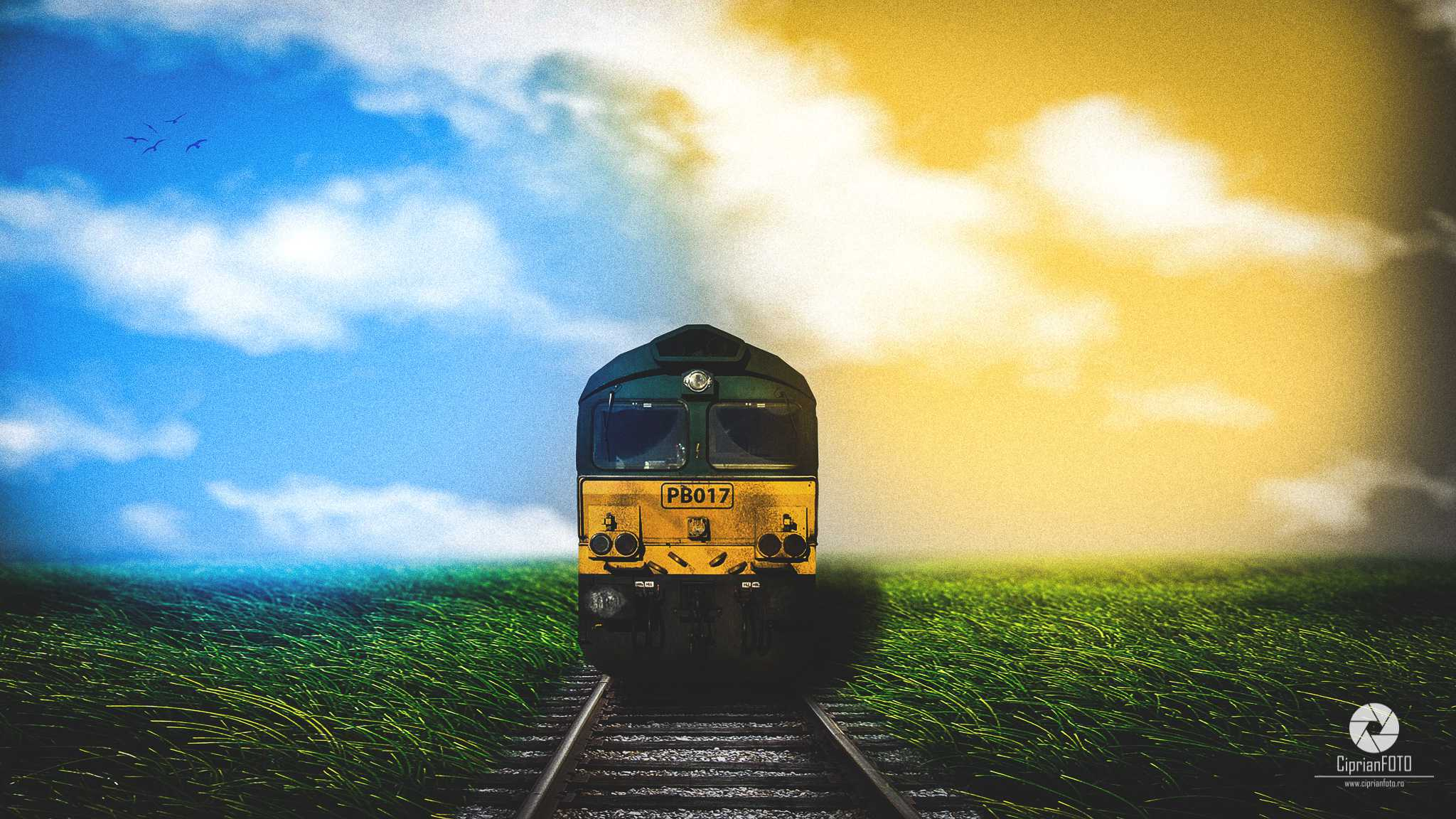 Train On The Railway, Photoshop Manipulation Tutorial, CiprianFOTO