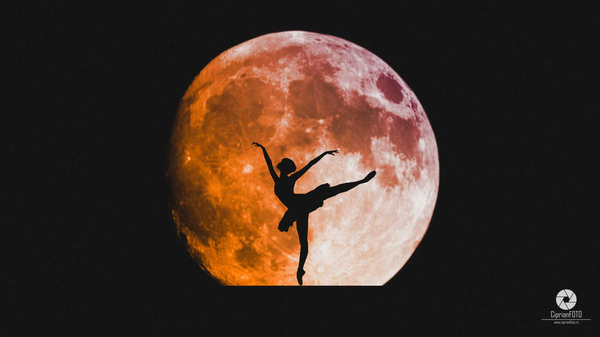 Super Blue Blood Moon And Ballerina, Photoshop Manipulation Tutorial, CiprianFOTO