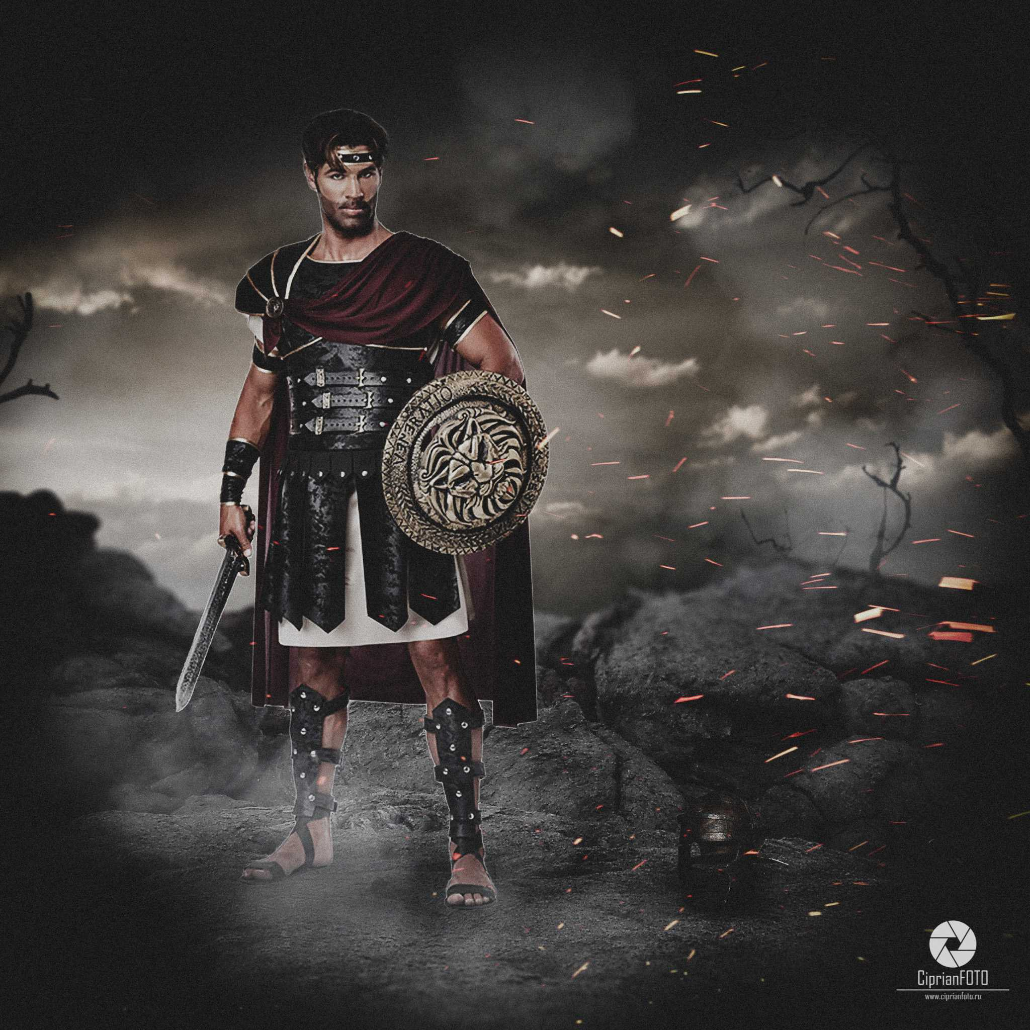 The Roman Soldier, Photoshop Manipulation Tutorial, CiprianFOTO