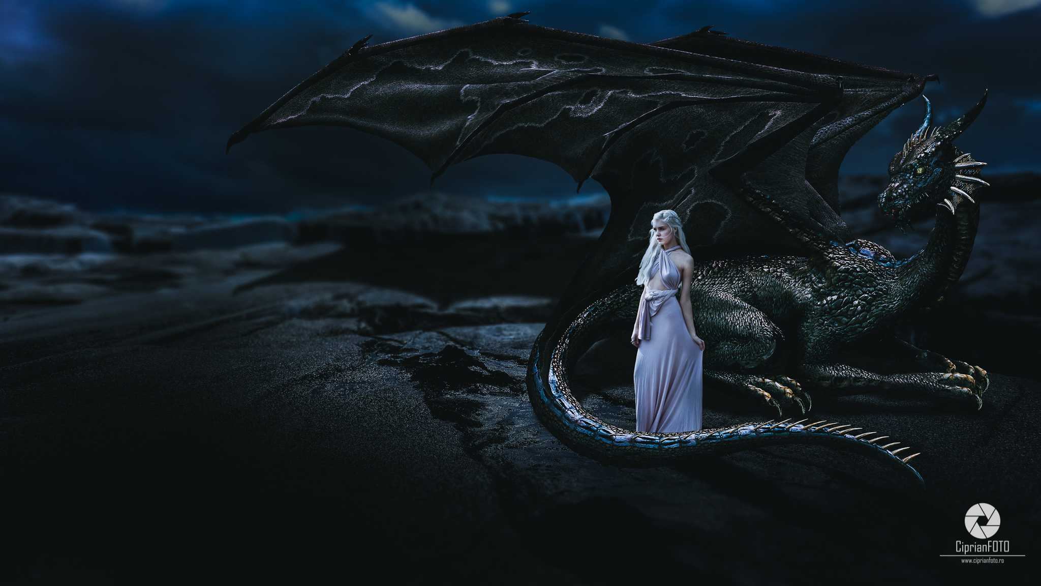The Princess Of The Dragon, Photoshop Manipulation Tutorial, CiprianFOTO