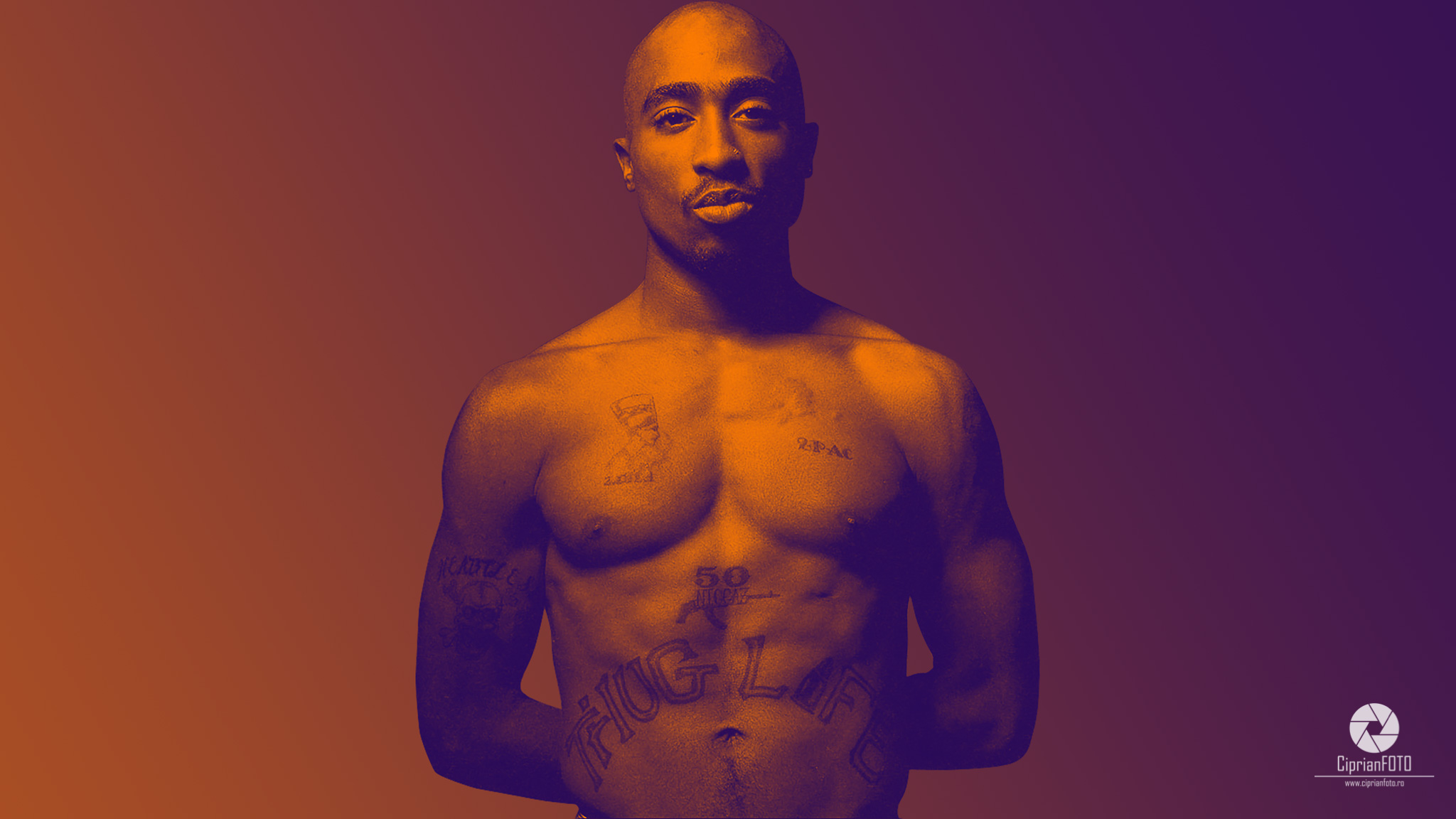 Doutone Effect In Photoshop - Tupac Amaru Shakur