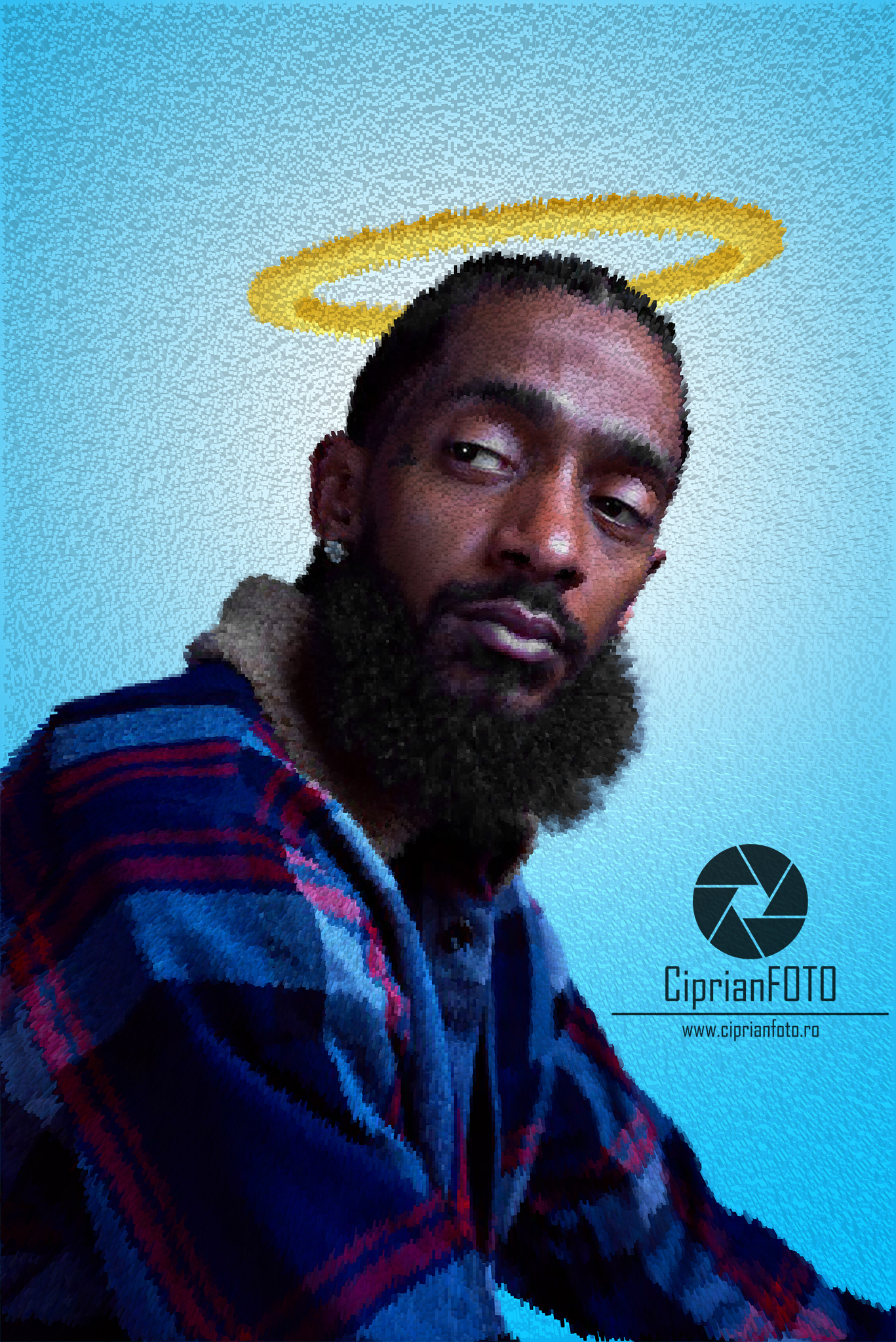 Nipsey Hussle, Fan Art Tribute, Photoshop Tutorial, CiprianFOTO