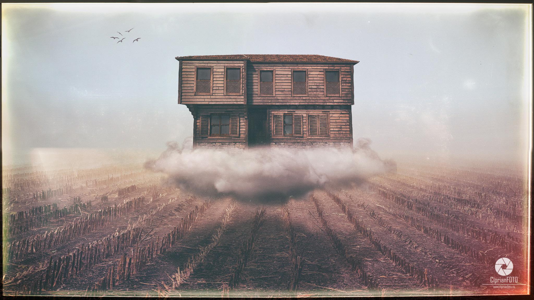 Floating House, Fine Art Scene, Photoshop Manipulation Tutorial, CiprianFOTO