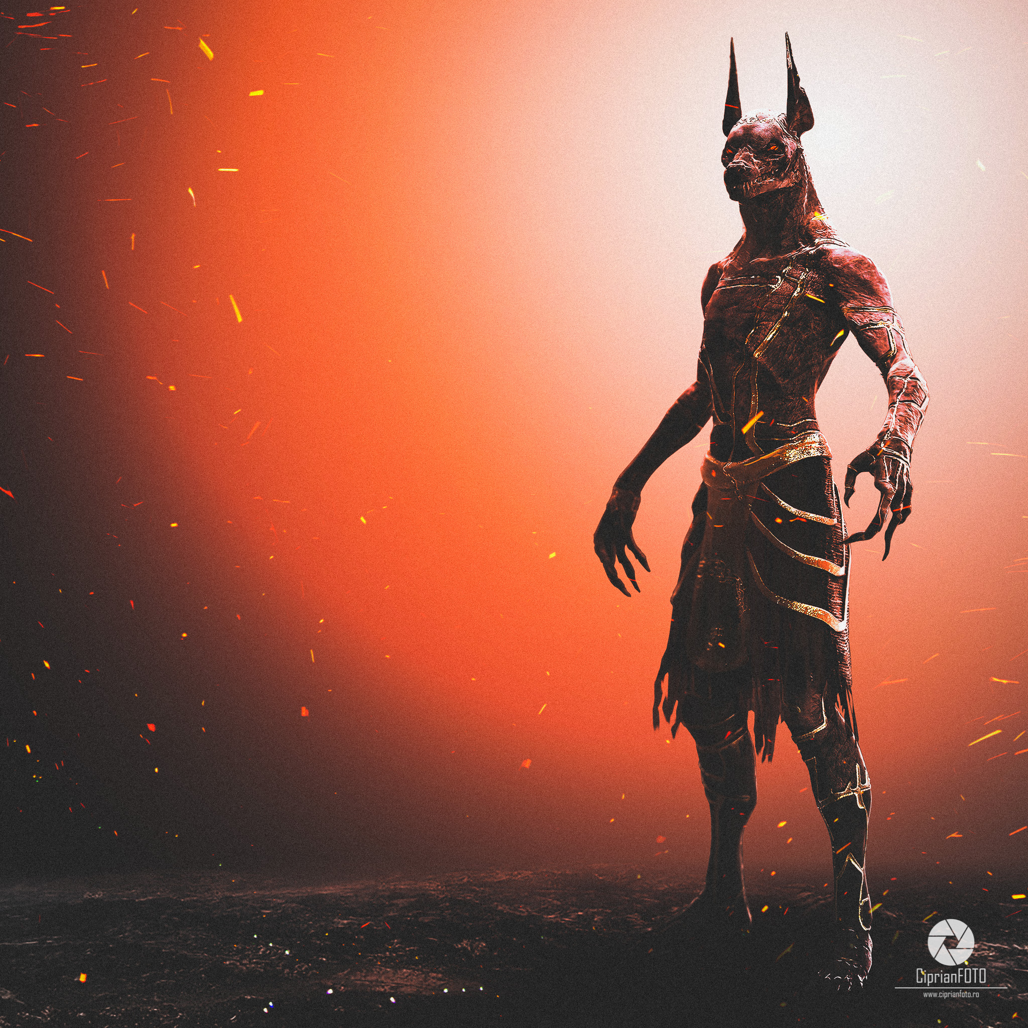 Anubis God of Death, Photoshop Manipulation Tutorial, CiprianFOTO