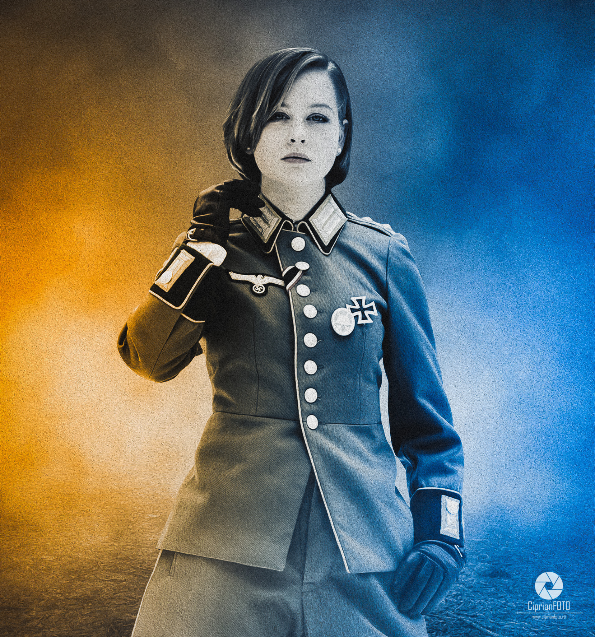 Nazi, Woman, Soldier, Photoshop Manipulation Tutorial, CiprianFOTO, Ciprian FOTO, Photo Manipulation Tutorial, Photoshop Ideas, Photo Manipulation Ideas