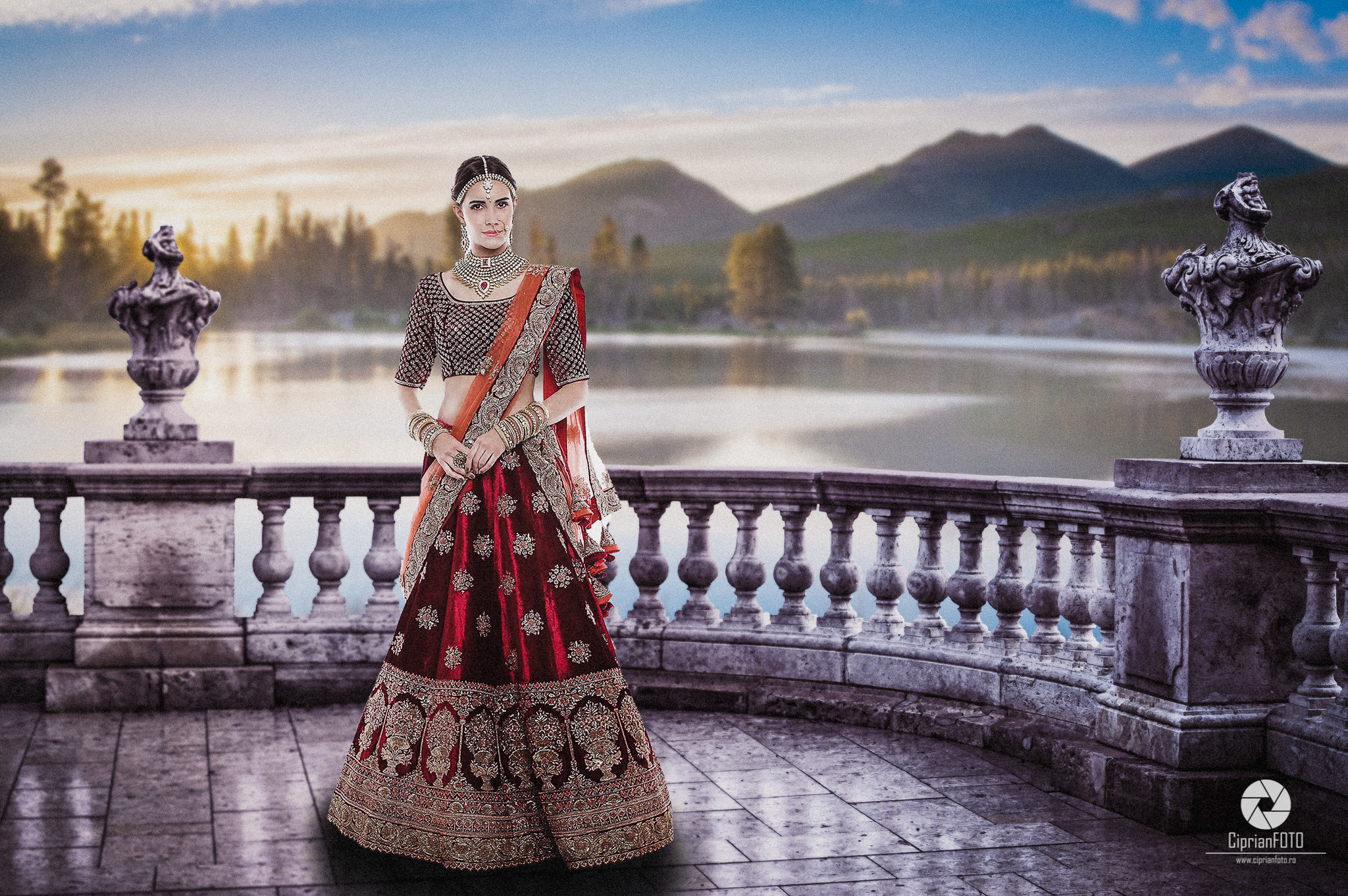 The Indian Bride, Photoshop Manipulation Tutorial, Composition Photography, Photo Manipulation, CiprianFOTO, Ciprian FOTO, fine art, rule of thirds