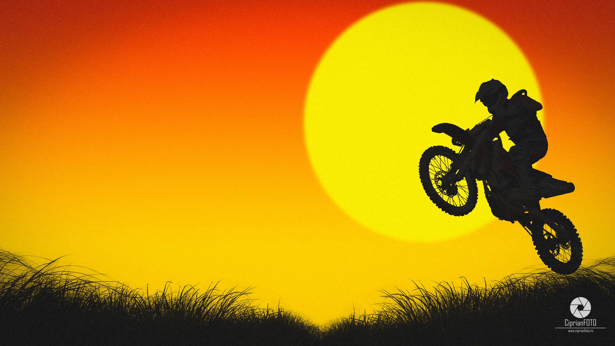 Photoshop CC 2020 Tutorial, Jumping, Motocross, Silhouette Effect, Photoshop, CiprianFOTO, Ciprian FOTO