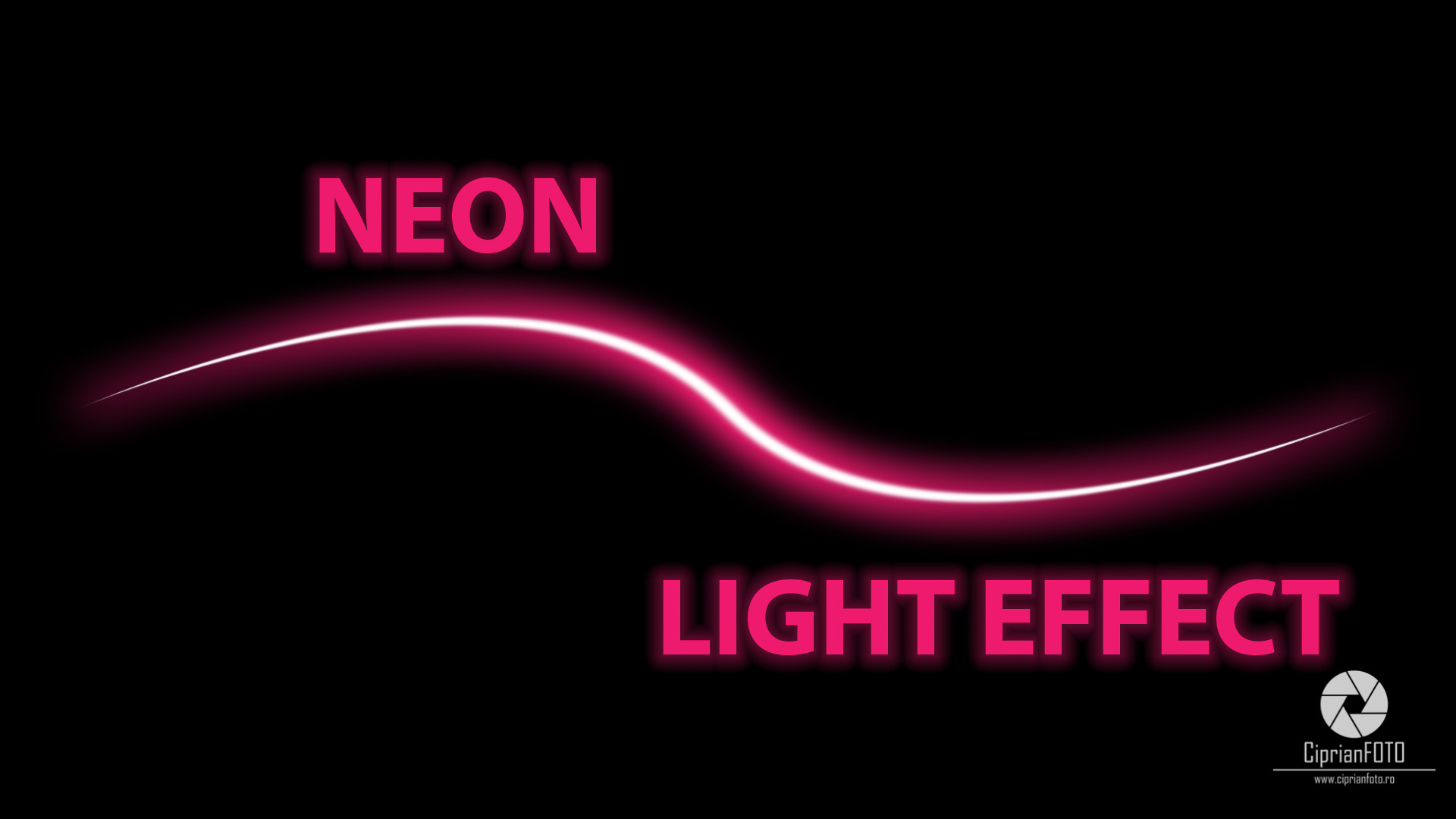 Neon Light Effect In Photoshop CC 2021, Photoshop Tutorial, Neon Light Effect, Photoshop Tutorial Idea, CiprianFOTO, Ciprian FOTO